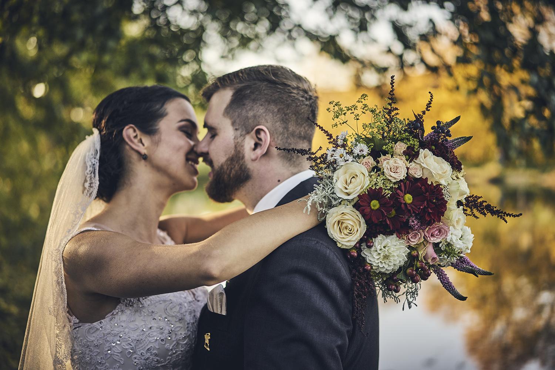 Svatební kytice - Modrokvět